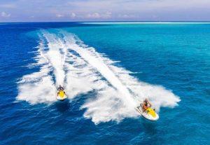 Adventure Maldiverne, Sri Lanka, Bali & Gili Islands - HÖJSKOLENDK, Højskole i Udlandet, Jetski på Maldiverne