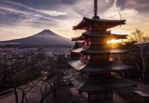Adventure i Japan - HÖJSKOLENDK, Højskole i Udlandet - View to Mount Fuji