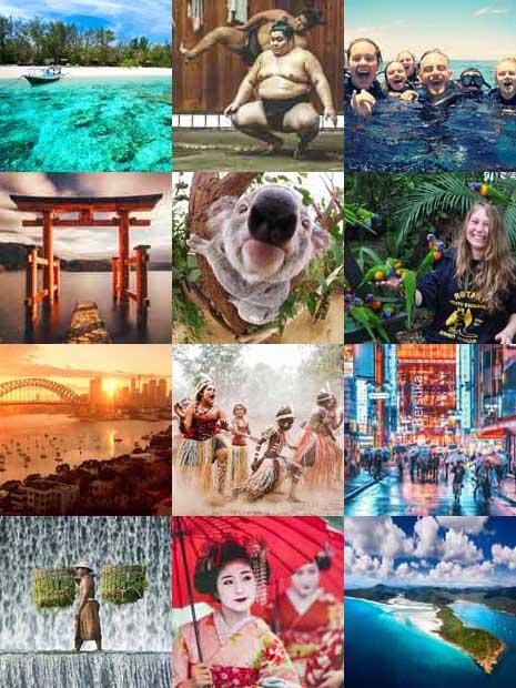 Hawaii, Australien, Japan, Bali & Gili Islands, HÖJSKOLENDK - Højskole i Udlandet