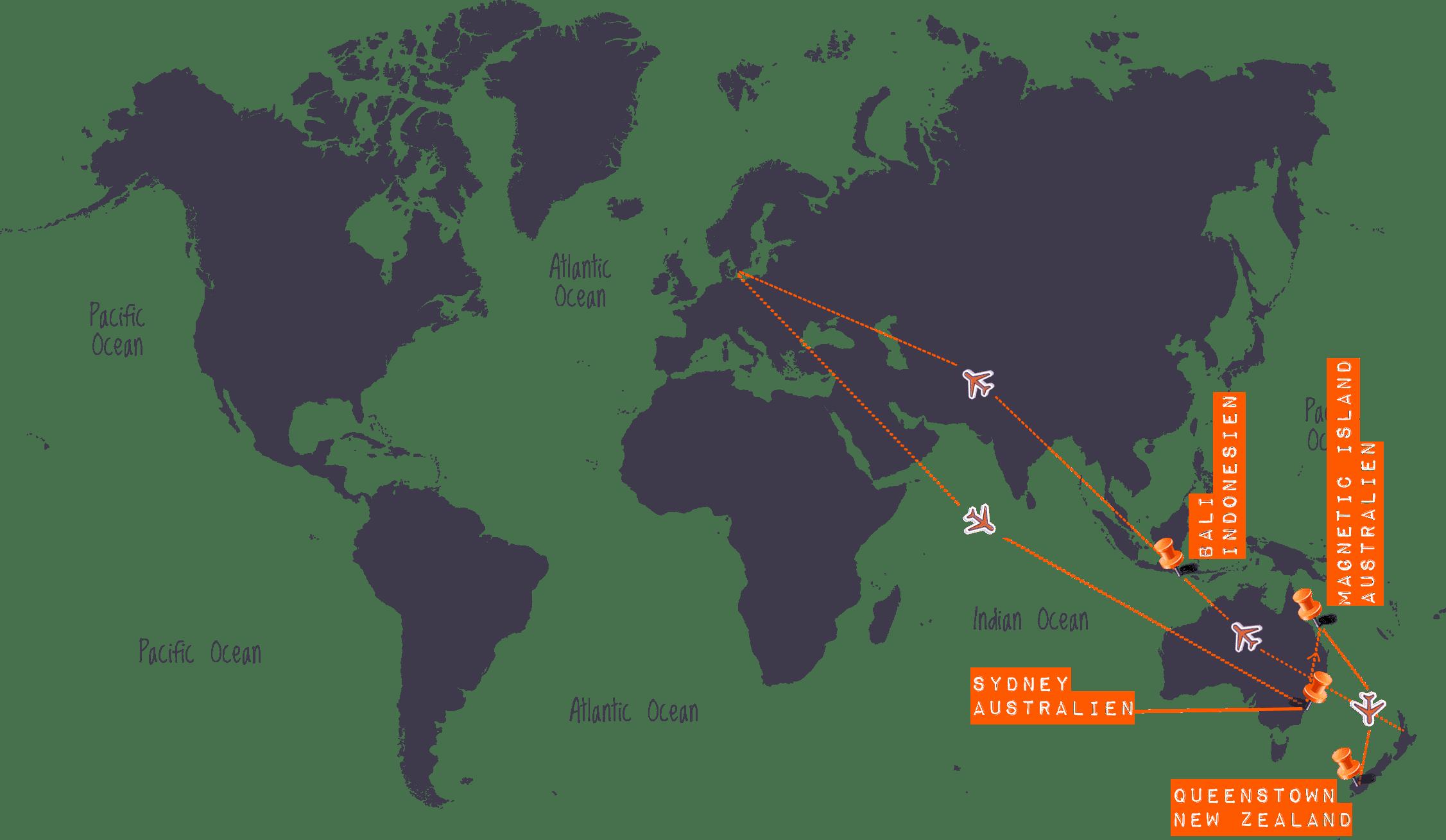 Højskole i Australien, New Zealand, Bali & Gili